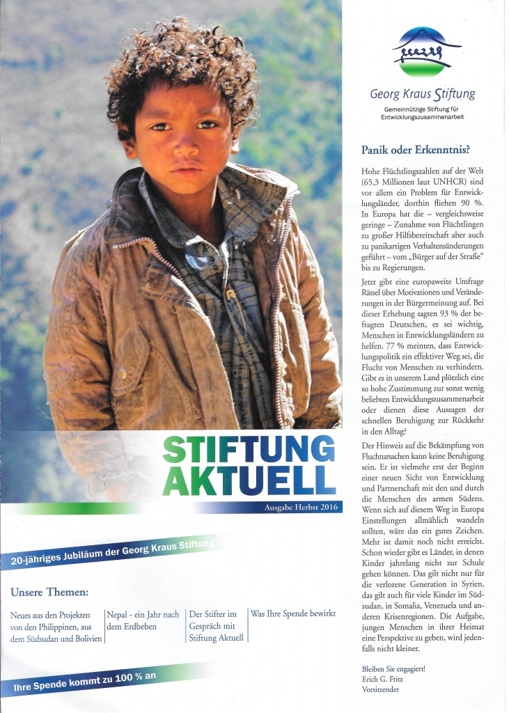 Stiftung Aktuell 2 - 2016_Titelseite